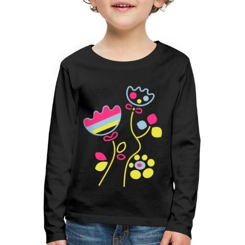 tulipani - Maglietta Premium a manica lunga per bambini