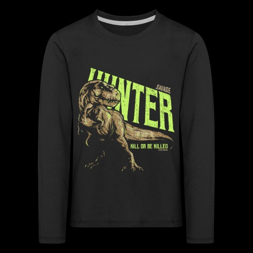 Dinosaurier Tyrannosaurus rex - Kinder Premium Langarmshirt