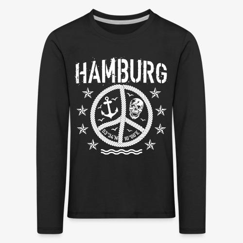 105 Hamburg Peace Anker Seil Koordinaten - Kinder Premium Langarmshirt