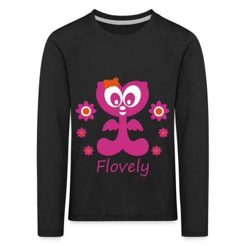 Flovely mit Blumen - Kinder Premium Langarmshirt