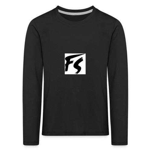 frituurstok logo FS - Kinderen Premium shirt met lange mouwen