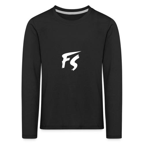 FS Logo wit - Kinderen Premium shirt met lange mouwen