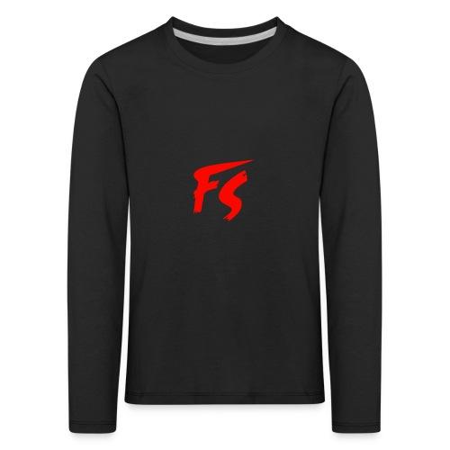FS Logo rood - Kinderen Premium shirt met lange mouwen