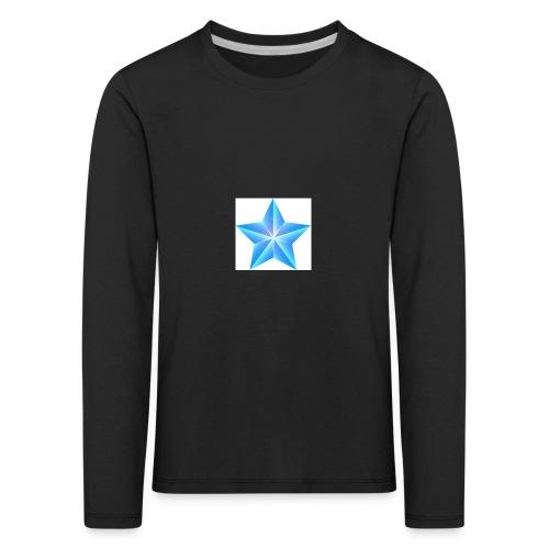 blue themed christmas star 0515 1012 0322 4634 SMU - Kids' Premium Longsleeve Shirt