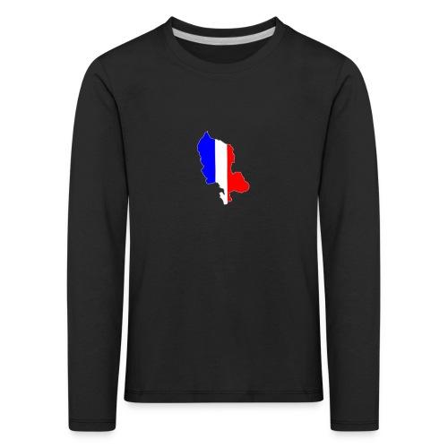 Carte Territoire de Belfort bleu blanc rouge - T-shirt manches longues Premium Enfant