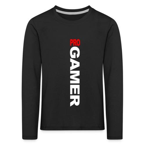Pro Gamer (weiss) - Kinder Premium Langarmshirt