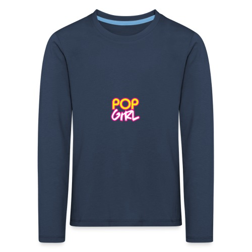 Pop Girl logo - Kids' Premium Longsleeve Shirt