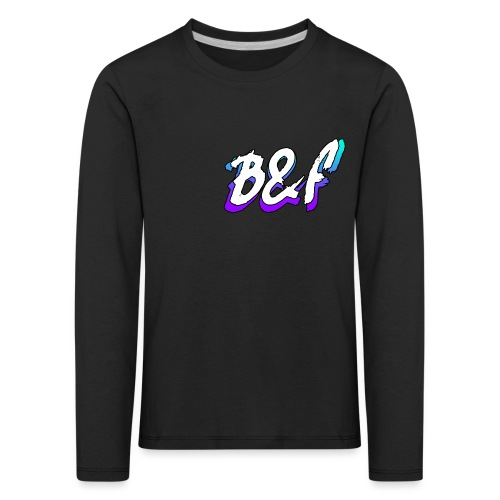 Purple and Blue Fade - Kids' Premium Longsleeve Shirt