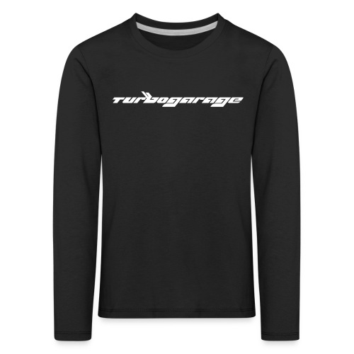 Turbogarage White - Kinder Premium Langarmshirt