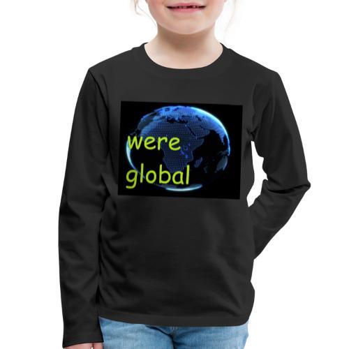 Were Global - Lasten premium pitkähihainen t-paita