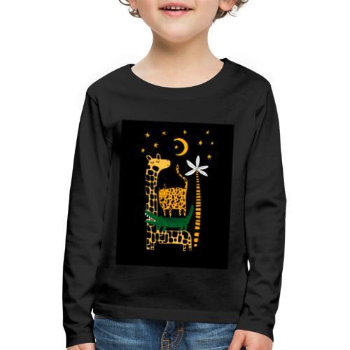 animals at night - Kids' Premium Longsleeve Shirt