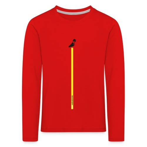 Spreadshirt grafica young inserto basso fondo nero - Maglietta Premium a manica lunga per bambini