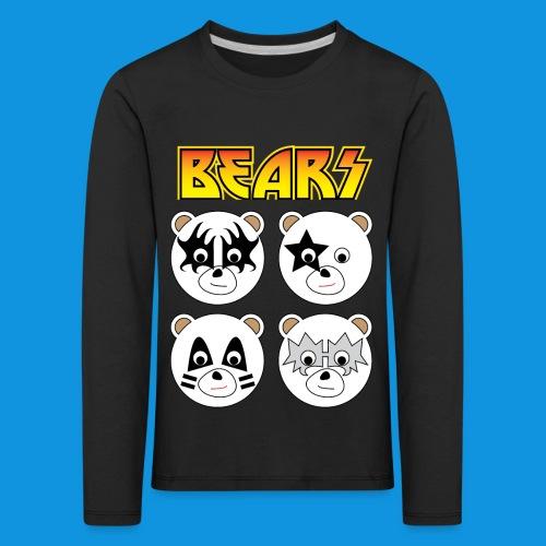 Kiss Bears square.png - Kids' Premium Longsleeve Shirt