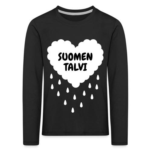 Suomen talvi - Lasten premium pitkähihainen t-paita