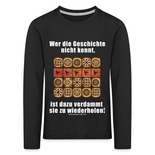 71_Geschichte_Lernen - Kinder Premium Langarmshirt