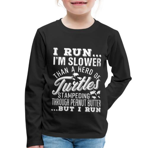 Run Turtles As Fast As We Can - Kinder Premium Langarmshirt