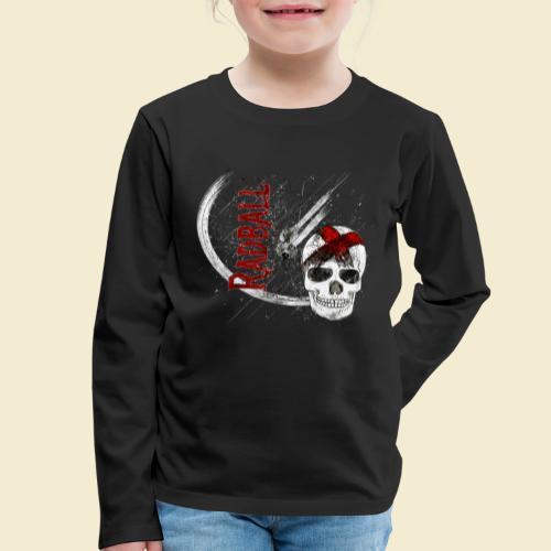 Radball | Cycle Ball Skull - Kinder Premium Langarmshirt