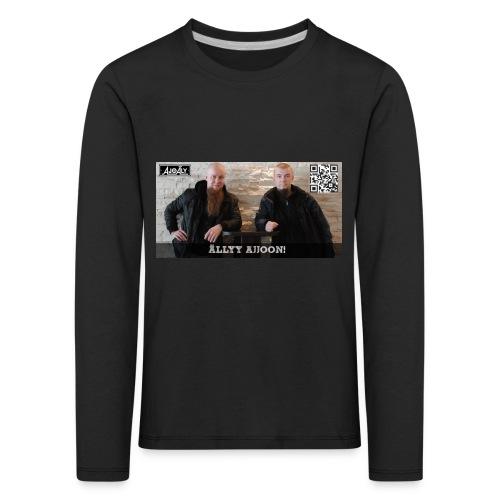 Ajoäly mainos etupuoli - Lasten premium pitkähihainen t-paita