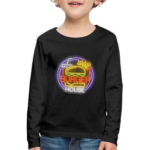 Burger House - Camiseta de manga larga premium niño