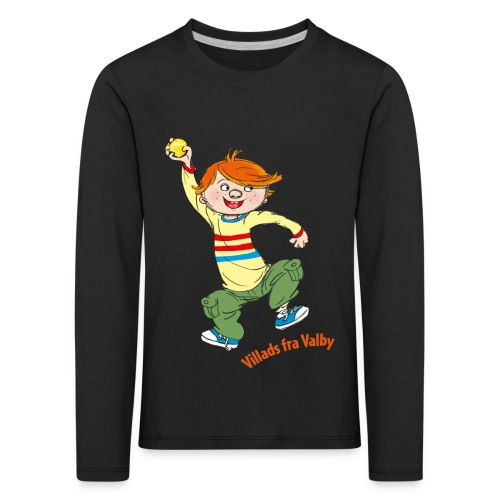 Villads fra Valby - Børne premium T-shirt med lange ærmer