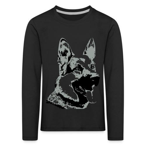 Dessin Chien Berger allemand 2 couleurs - T-shirt manches longues Premium Enfant
