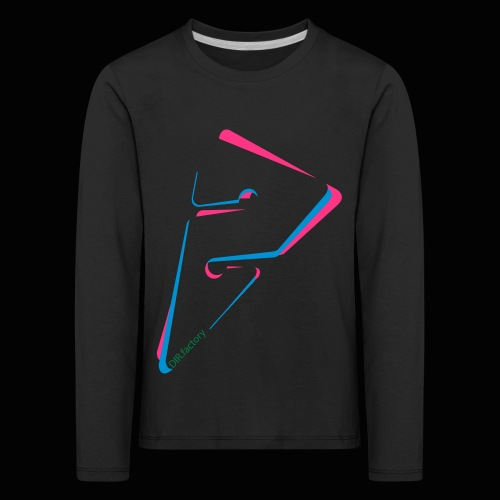 arrow freigestellt mit dirfactorytext - Kinder Premium Langarmshirt