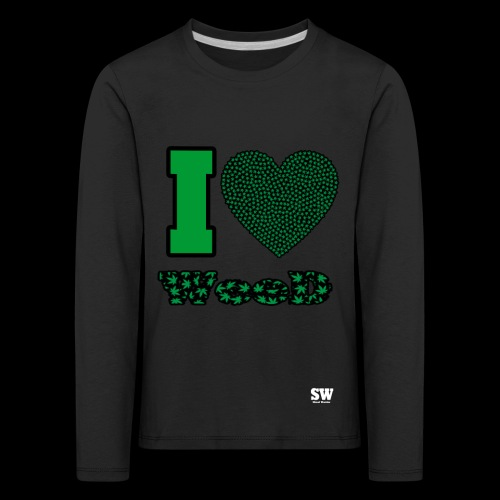 I Love weed - T-shirt manches longues Premium Enfant