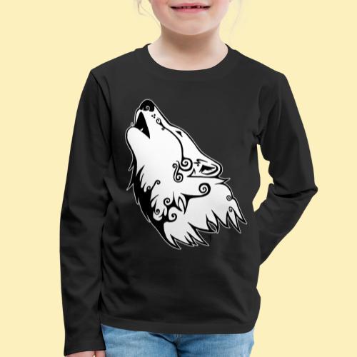 Le Loup de Neved (version contour blanc) - T-shirt manches longues Premium Enfant