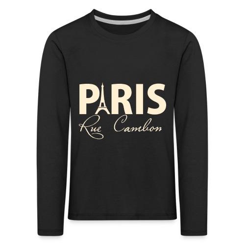 paris rue cambon wit png - Kinderen Premium shirt met lange mouwen