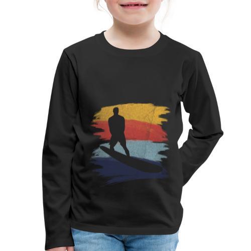 Wellenreiten Retro-Stil, Vintage - Kinder Premium Langarmshirt