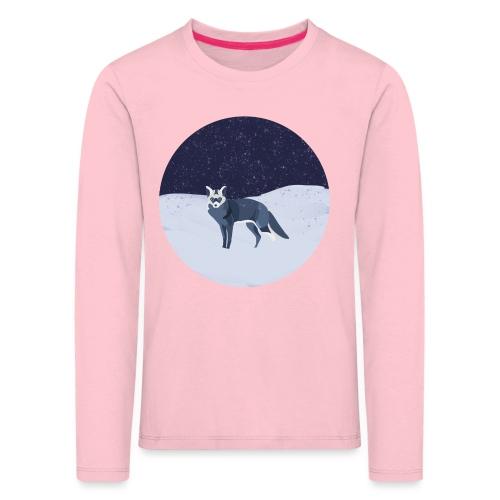 Blue fox - Lasten premium pitkähihainen t-paita