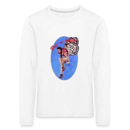 Vintage Rockabilly Butterfly Pin-up Design - Kids' Premium Longsleeve Shirt