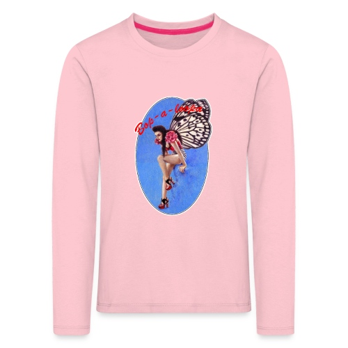 Vintage Rockabilly Butterfly Pin-up Design - Kids' Premium Longsleeve Shirt