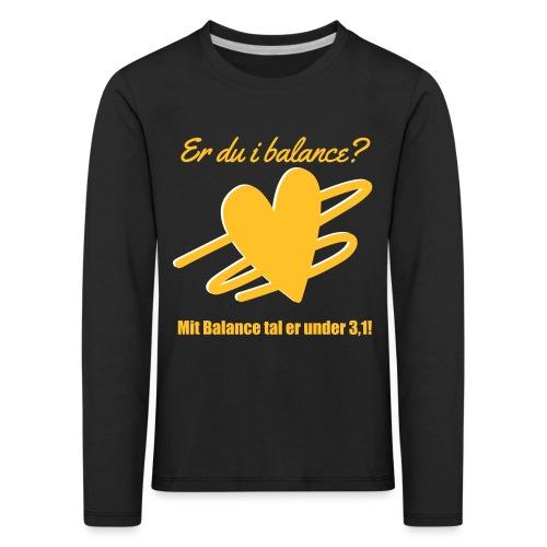 I Balance Design - Børne premium T-shirt med lange ærmer