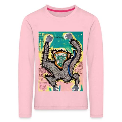 the monkey - Maglietta Premium a manica lunga per bambini