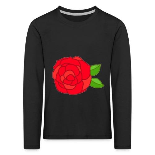 Róża - Koszulka dziecięca Premium z długim rękawem