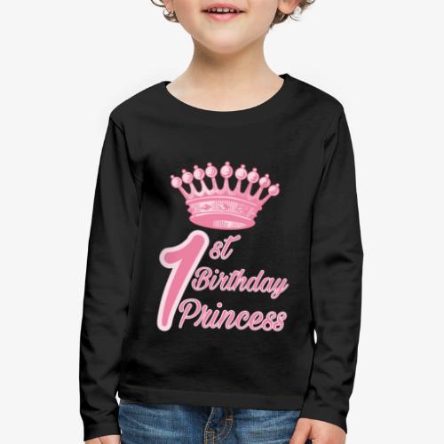 1st Birthday Princess - Maglietta Premium a manica lunga per bambini