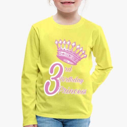 3rd Birthday Princess - Maglietta Premium a manica lunga per bambini