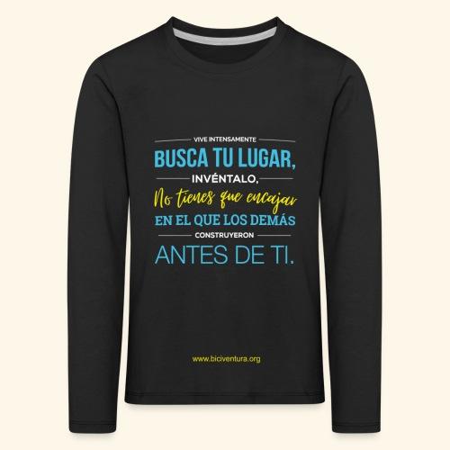 Busca tu lugar - Camiseta de manga larga premium niño