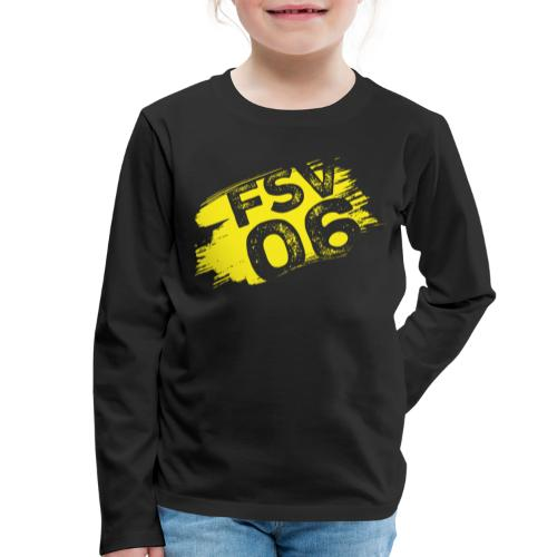 Hildburghausen FSV 06 Graffiti gelb - Kinder Premium Langarmshirt