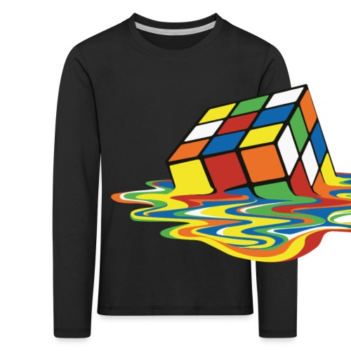 Rubik's Cube Melted Colourful Puddle - Långärmad premium-T-shirt barn
