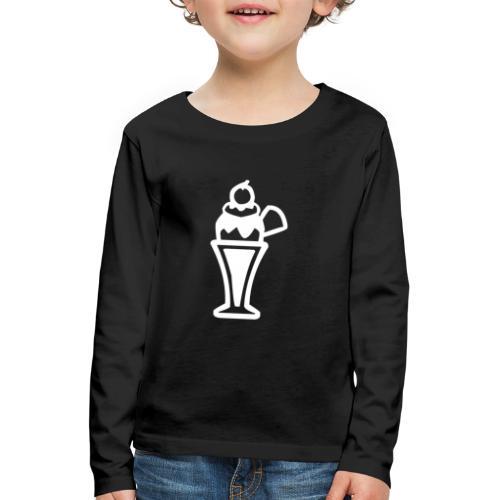 Eis und Eiscreme Symbol - Kinder Premium Langarmshirt