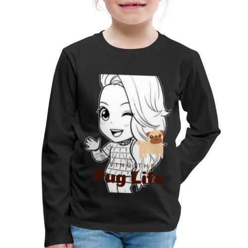 Miss Lopez Pug Life - Långärmad premium-T-shirt barn