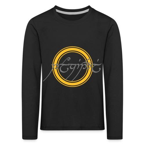 Tolkiendil en tengwar (écusson & dos) - T-shirt manches longues Premium Enfant