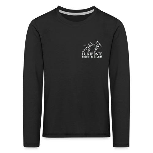 La Riposte Blanc - T-shirt manches longues Premium Enfant