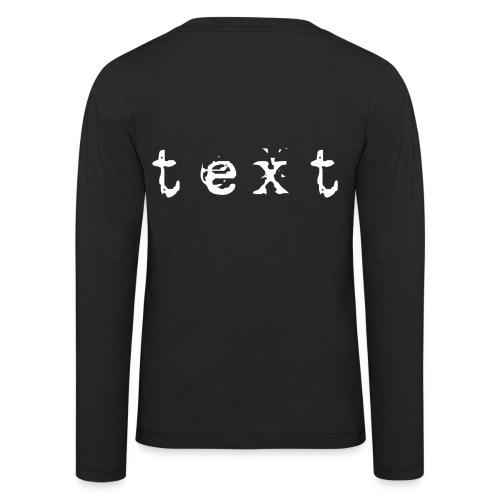 text - Kinder Premium Langarmshirt