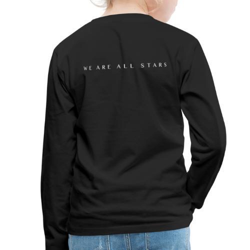 Galaxy Music Lab - We are all stars - Børne premium T-shirt med lange ærmer