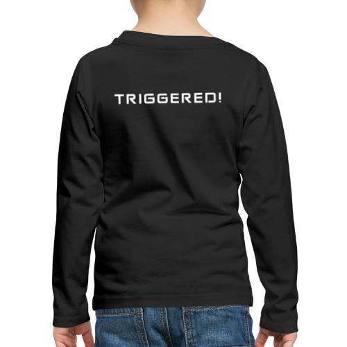 White Negant logo + TRIGGERED! - Børne premium T-shirt med lange ærmer