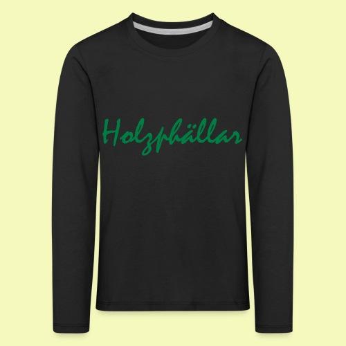 Schriftzug Grün - Kinder Premium Langarmshirt