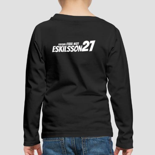 Eskilsson 27 sticker motive white - Långärmad premium-T-shirt barn